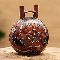 Ceramic vessel, 'Nazca Rituals'