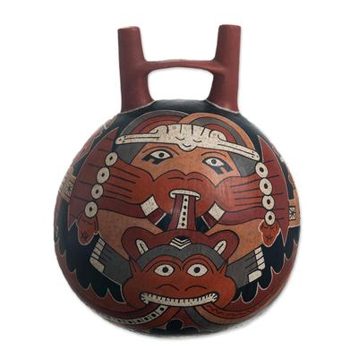Andean Archaeology Ceramic Nazca Replica Decorative Vase