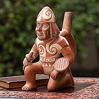 Ceramic vessel, 'Moche Soldier'