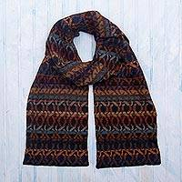 100% alpaca knit  scarf, 'In the Mountains'