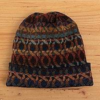 100% alpaca knit hat, 'In the Mountains'