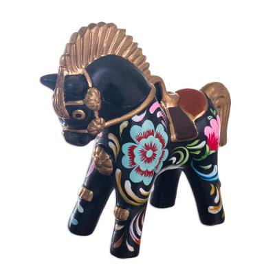 Folk Art Horse Figurine