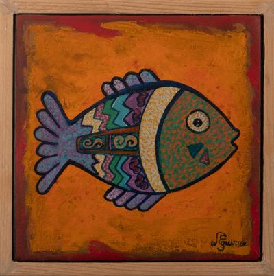 Colorful Original Fish Painting