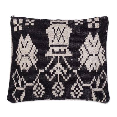 Black and Off-White Cushion Cover