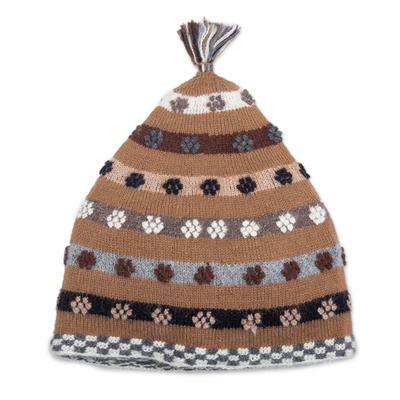 Hand Knit 100% Baby Alpaca Hat