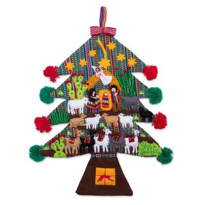 Andean Christmas Tree Wall Hanging