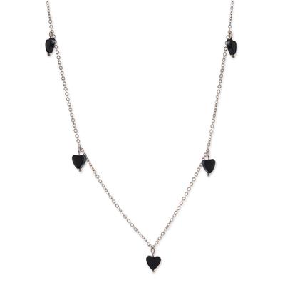Handmade Hematite Heart Necklace