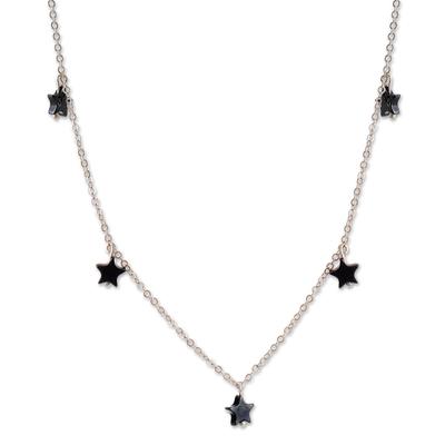 Star Motif Hematite Necklace