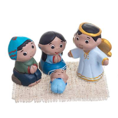 Artisan Crafted Small Nativity Scene (4 Pieces)