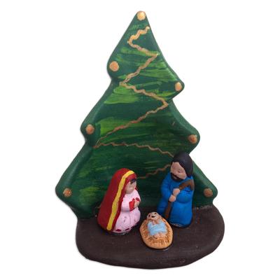 Handcrafted Ceramic Christmas Tree Nativity
