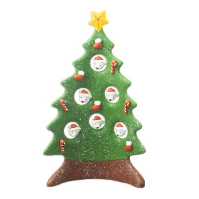 Hand Painted Christmas Tree Sculpture