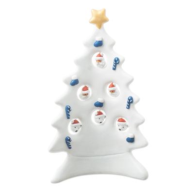 Handmade White Christmas Tree Sculpture