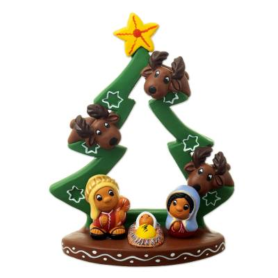 Hand Painted Christmas Nativity Sculpture