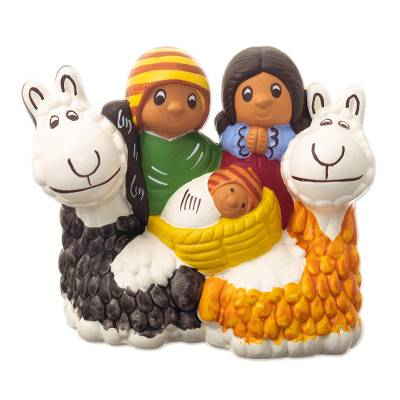 Andean Style Nativity Sculpture
