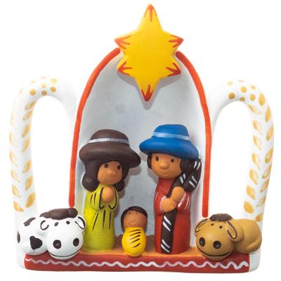 Hand Painted Ceramic Nativity Sculpture