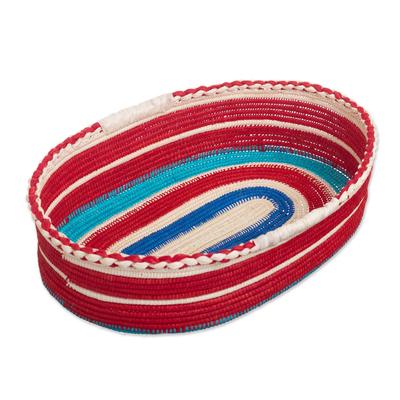 Handcrafted Palm Fiber Basket