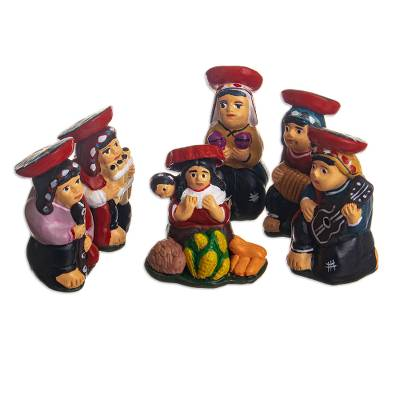 Handcrafted Andean Nativity Scene (6 Pieces)