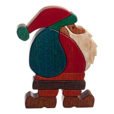 Christmas Motif Wood Sculpture