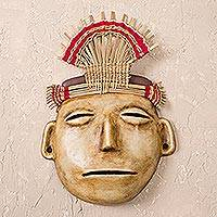 Recycled paper mask, 'Vicus Ritual' - Pre-inca Recycled Paper Mask Peru Wall Sculpture Art