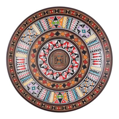 Cuzco plate, 'Inca Iconography' - Hand Made Ceramic Plate