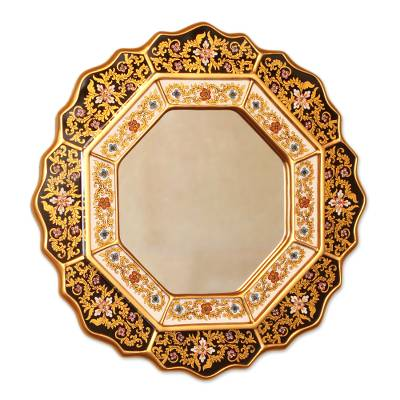 Hand Made Reverse Painted Glass Mirror