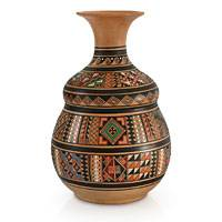 Cuzco vase, 'Earthen Wisdom' - Unique Cuzco Ceramic Vase