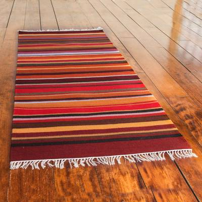 Wool runner, 'Highland Sunset' (2x5) - Wool runner (2x5)