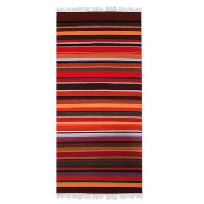 Wool runner, 'Highland Sunset' (2x5) - Wool runner (2x5)