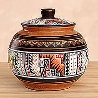 Cuzco jar, 'Timeless' - Cuzco Decorative Ceramic Jar