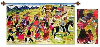 Wool tapestry, Sarhua Festival