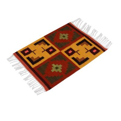 Wool placemats, 'Pukio' (set of 4) - Hand Made Wool Placemats (Set of 4)