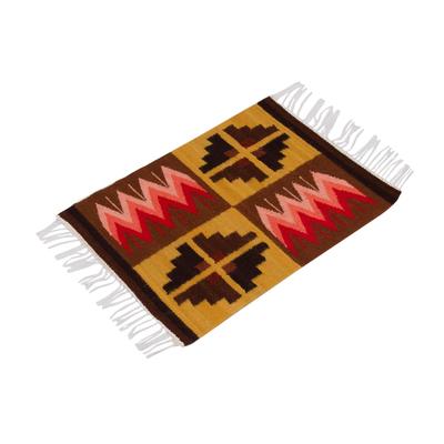Wool placemats, 'Pukio Lake' (set of 4) - Wool placemats (Set of 4)