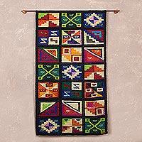 Wool tapestry, 'Calendar'