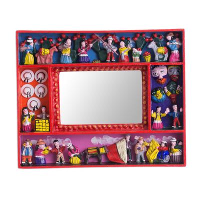 Photo frame, 'Tuna Harvest' (4x6) - Collectible Folk Art Wood Retablo Photo Frame (4x6)