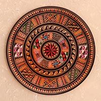 Cuzco plate, 'Inti' - Unique Handcrafted Decorative Plate