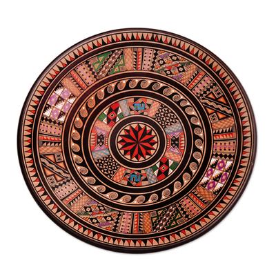 Cuzco plate, 'Inti' - Collectible Cuzco Ceramic Decorative Plate