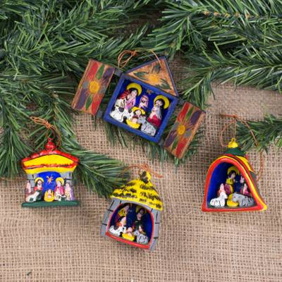 Ornaments, Nativity (set of 4)