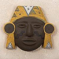 Ceramic mask, 'Shipibo Man' - Hand Made Archaeological Ceramic Mask