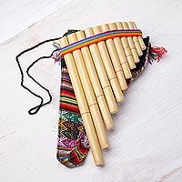 Reed zampona panpipe, 'Andean Panpipe' - Reed Zampona Panpipe Flute Handmade Instrument from Peru