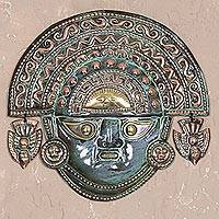 Copper mask, 'Ai Apaec with Ritual Crown'