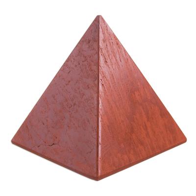 Jasper pyramid, 'Dreams' (medium) - Handcrafted Jasper Pyramid Sculpture (Medium)