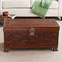 Cedar and leather chest, 'Colonial Days'