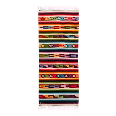 Wool runner, 'Andean Magic' (2x5) - Geometric Wool Area Rug (2x5)