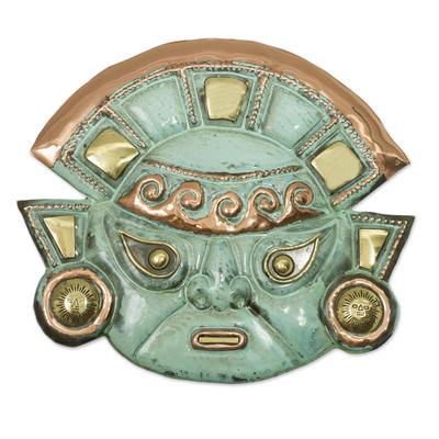Copper Moche Mask Wall Art