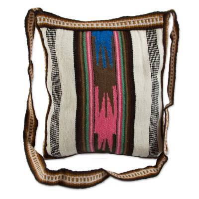 Wool shoulder bag, 'Andean Dream' - Handmade Wool Sling Bag