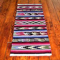 Wool runner, 'Doves Bring Peace' (2x4)