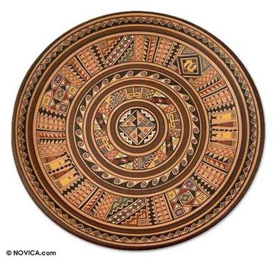 Cuzco plate, 'Tie Up the Sun' - Cuzco Ceramic Decorative Wall Plate