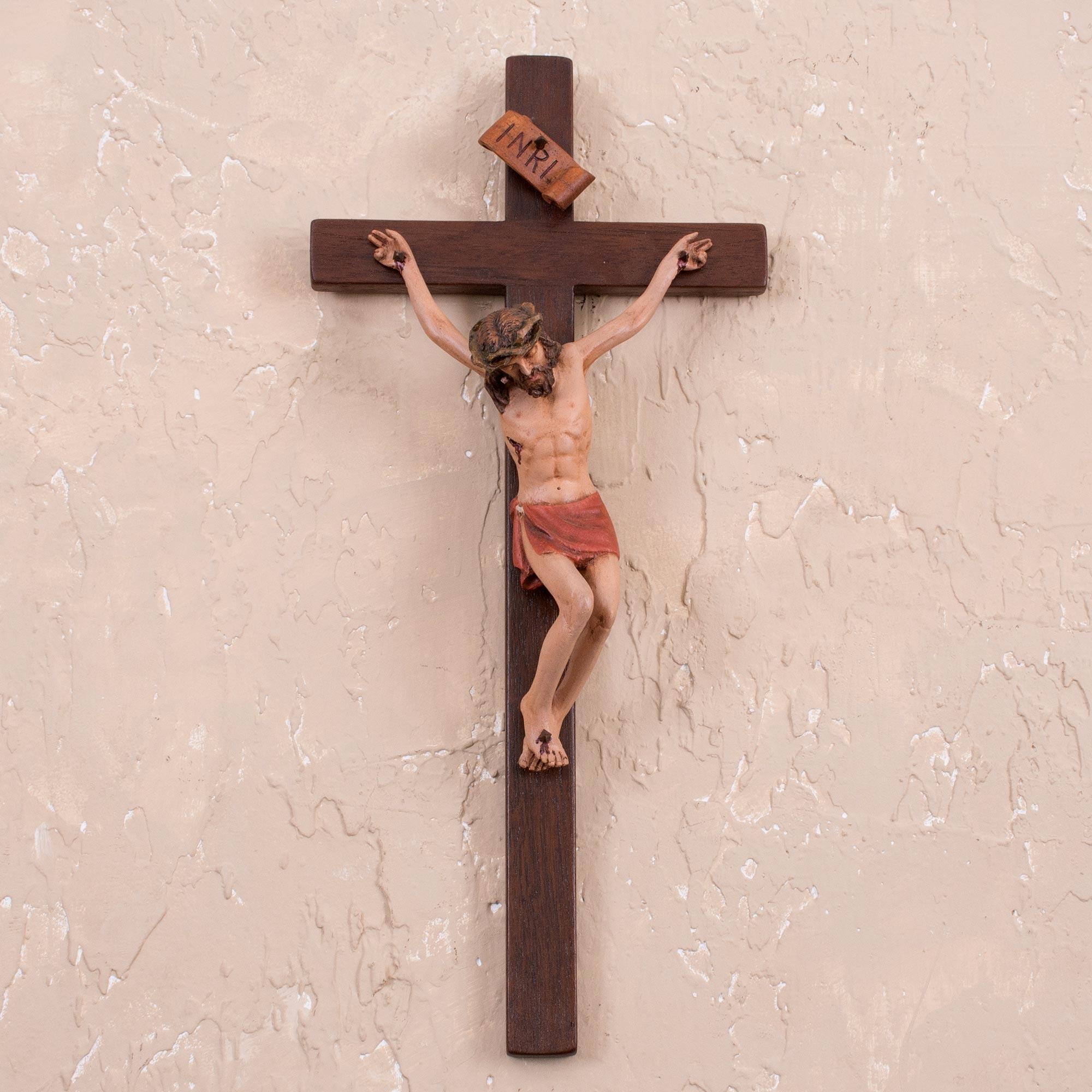 Handmade Crucifix Christianity Wood Cross from Peru - Jesus Christ | NOVICA