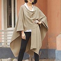 Alpaca blend wrap, 'Serenity' - Full Length Alpaca Blend Woolen Wrap
