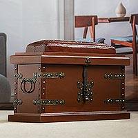 Leather trunk, 'Village, Country Collection'